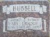 Enoch J. Hubbell marker, Mount Pleasant Cemetery, Ladoga, IN