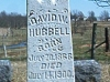 David W. Hubbell marker, Mount Pleasant Cemetery, Ladoga, IN
