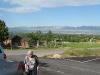Jean Hubbell amidst splendid scenery