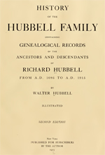 History of the Hubbell family : containing genealogical records