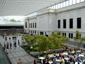 The new atrium connects the original 1916 Cleveland Museum of Art building designed by architects Hubbell & Benes to the additional wings