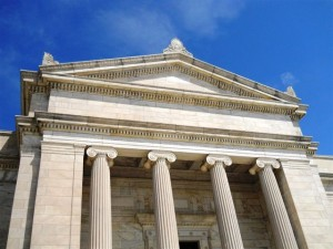 View of the south entrance of the original 1916 Cleveland Museum of Art building designed by architects Hubbell & Benes