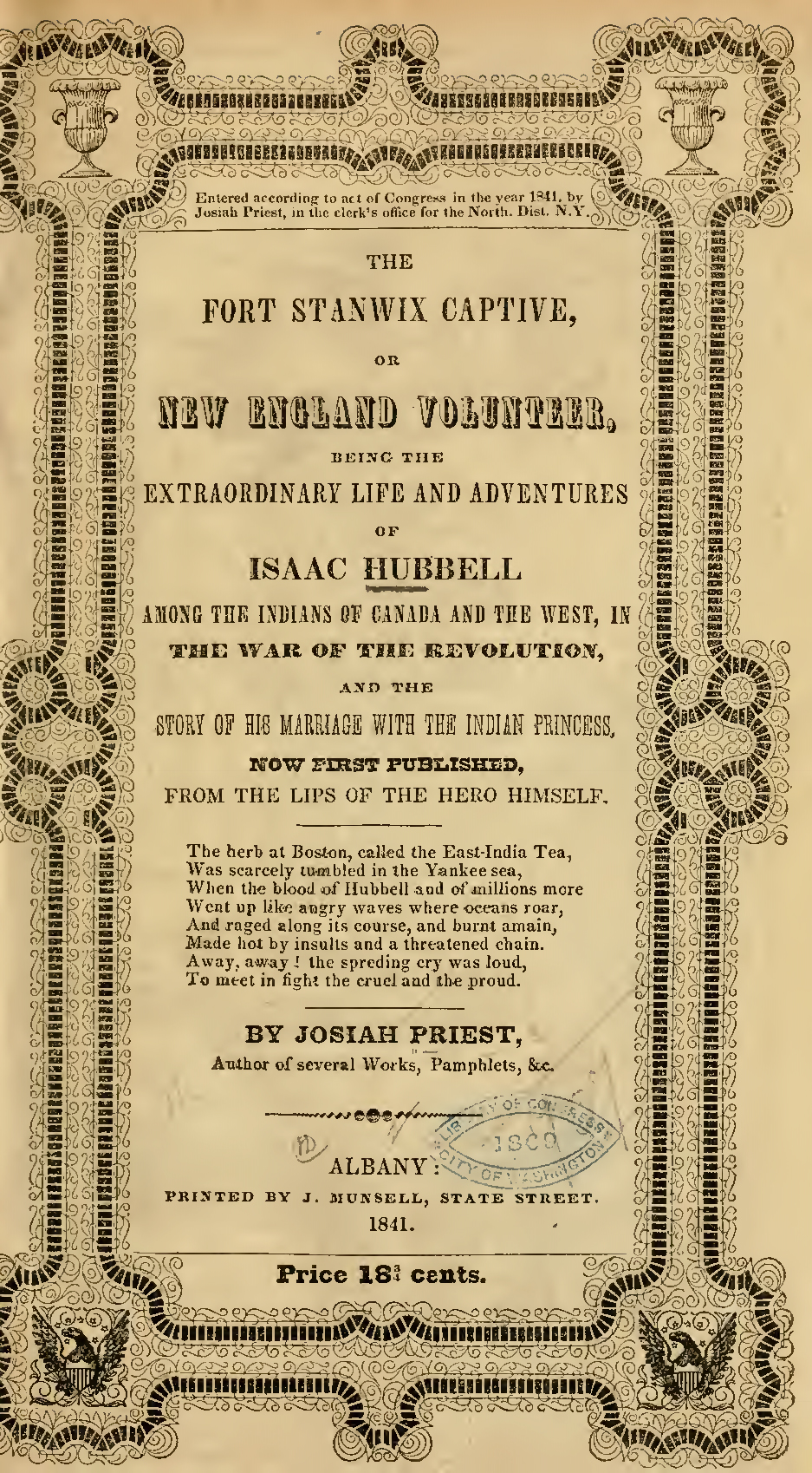 Issac Hubbell title page